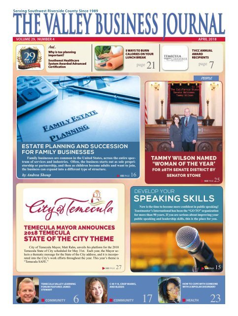 The Valley Business Journal April 18