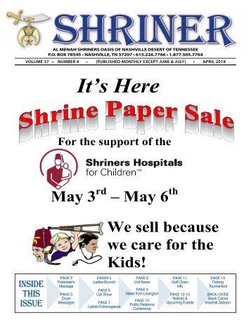 SHRINER APRIL 2018