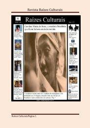 Revista Raizes culturais abril 2018