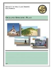 Oceano Specific Plan - County of San Luis Obispo