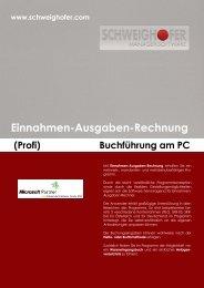 Einnahmen-Ausgaben-Rechnung (Profi) - SCHWEIGHOFER Manager