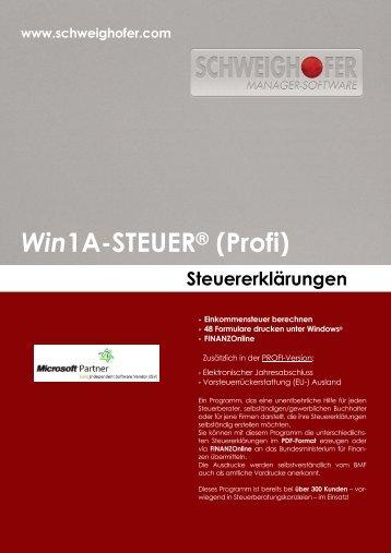Win1A-STEUER® (Profi) - SCHWEIGHOFER Manager