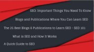 SEO_ Important Things You Need To Know