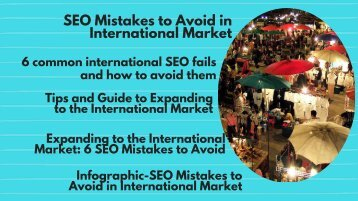 SEO Mistakes to Avoid in International Market