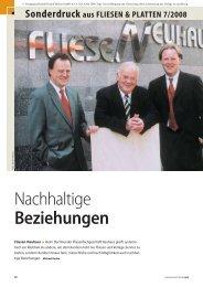 Sonderdruck aus FLIESEN & PLATTEN 7/2008 - Fliesen- Handel ...