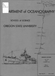 ARTMENT of OCEANO - ScholarsArchive at Oregon State University