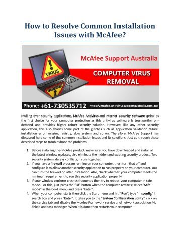 How to Resolve Common Installation Issues with McAfee?