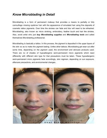 Know Microblading in Detail