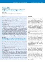 Probiotika - Swiss Medical Forum