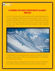 Facts you didn't know about Alaska