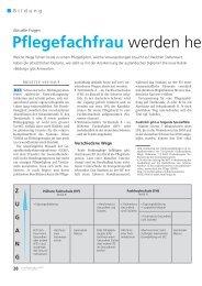 Pflegefachfrau - Schweizer Berufsverband der Pflegefachfrauen