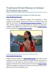 Traditional Bridal Makeup in Udaipur by Prabhat Spa Salon