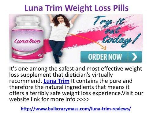Luna Trim Weight Loss Pills