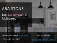 Reconstituted Stone Benchtops in Melbourne - ABA Stone