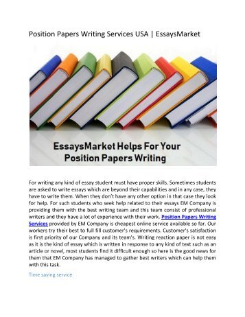 Custom Position Papers Writing Services USA