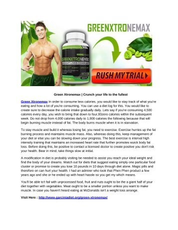 Green Xtronemax | Crunch your life to the fullest