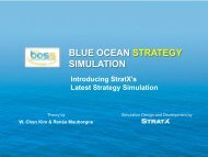 BLUE OCEAN STRATEGY SIMULATION (BOSS) - StratX Simulations