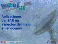 Aplicaciones del SAR en aspectos del hielo en el océano