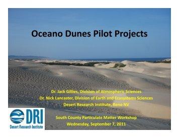 Oceano Dunes Pilot Projects