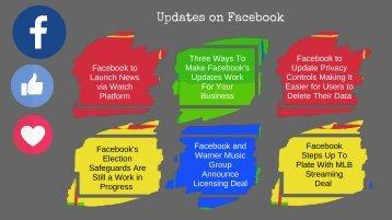 Updates on Facebook