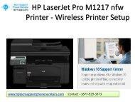 HP LaserJet Pro M1217 nfw Printer - Wireless setup
