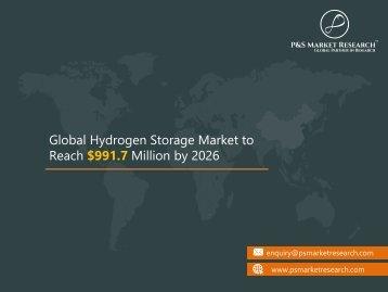 Global Hydrogen Storage Market