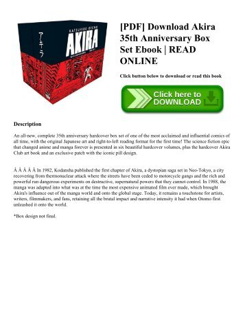[PDF] Download Akira 35th Anniversary Box Set Ebook | READ ONLINE