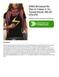 [PDF] Download Ms. Marvel Volume 1: No Normal Ebook   READ ONLINE