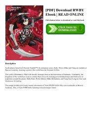 [PDF] Download RWBY Ebook   READ ONLINE