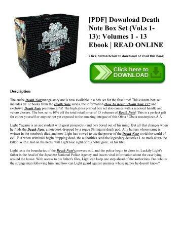 [PDF] Download Death Note Box Set  (Vol.s 1-13): Volumes 1 - 13 Ebook | READ ONLINE