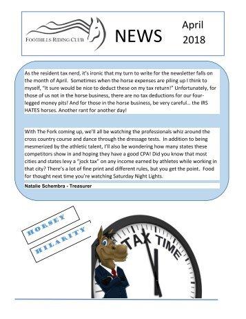 April 2018 FRC Member Newsletter