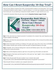 How Can I Reset Kaspersky 30-Day Trial
