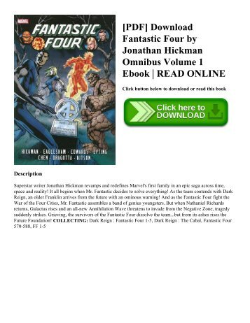 [PDF] Download Fantastic Four by Jonathan Hickman Omnibus Volume 1 Ebook | READ ONLINE