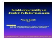 Decadal climate variability and drought in the ... - WCRP