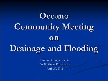 Oceano Community Meeting on Drainage and Flooding