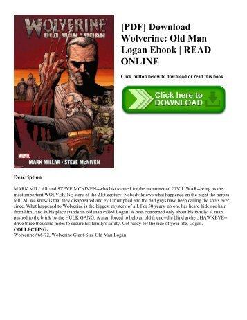 [PDF] Download Wolverine: Old Man Logan Ebook   READ ONLINE
