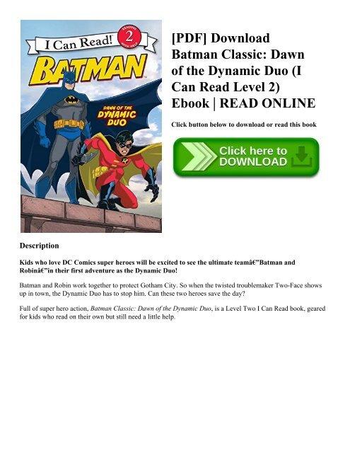 PDF] Download Batman Classic: Dawn of the Dynamic Duo (I Can