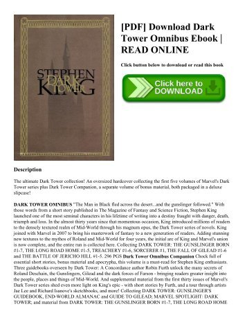 [PDF] Download Dark Tower Omnibus Ebook   READ ONLINE