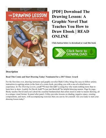[PDF] Download The Drawing Lesson: A Graphic Novel That Teaches You How to Draw Ebook | READ ONLINE
