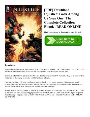 [PDF] Download Injustice: Gods Among Us Year One: The Complete Collection Ebook   READ ONLINE