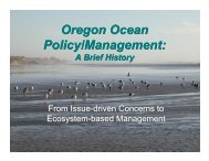 Oregon Ocean Policy/Management - National Marine Protected ...