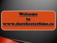 Prom Limousine Services in Kitchener Ontario