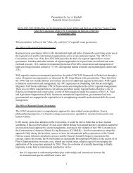 1 Presentation by Lee A. Kimball Regional Ocean Governance ...