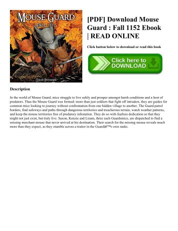 [PDF] Download Mouse Guard : Fall 1152 Ebook | READ ONLINE