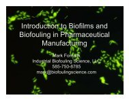 Introduction to Biofilms and Biofouling in Pharmaceutical - Industrial ...