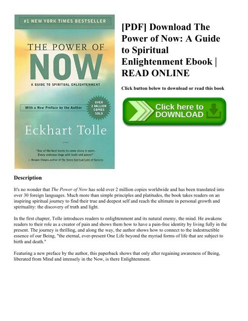 Power Of Now Pdf