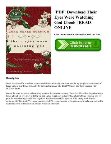 [PDF] Download Their Eyes Were Watching God Ebook   READ ONLINE