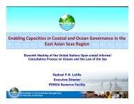 Enabling Capacities in Coastal and Ocean Governance in the East ...