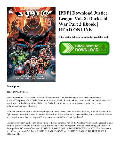 Pdf Download Justice League Vol 8 Darkseid War Part 2 Ebook Read Online