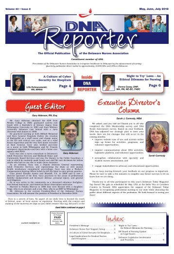 DNA Reporter - May 2018